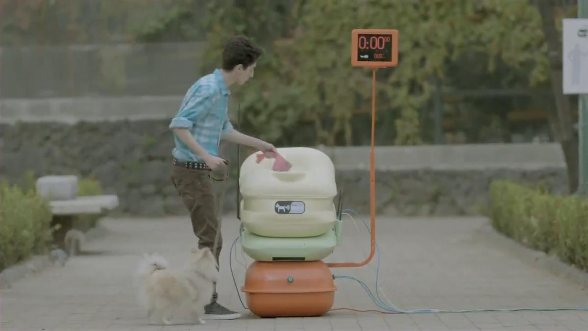 An internet company in Mexico has placed devices in several parks that accept pet waste and then activate free wifi for a set time in the area