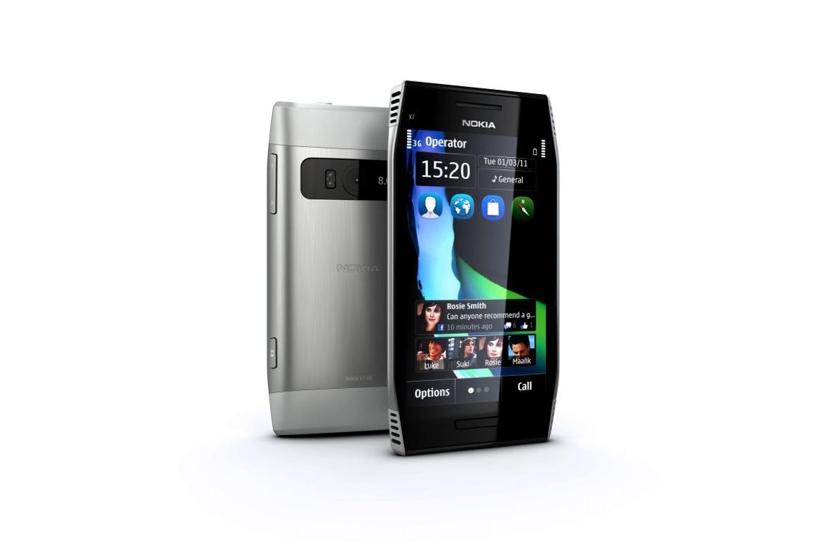 Nokia X7 smartphone: 4-inch AMOLED screen, 720p video and