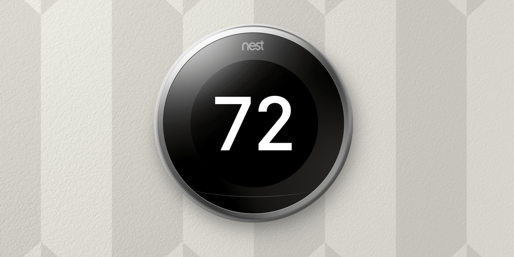 The newest Nest thermostat has a slimmer profile, allowing it to rest more flush with the wall in your home