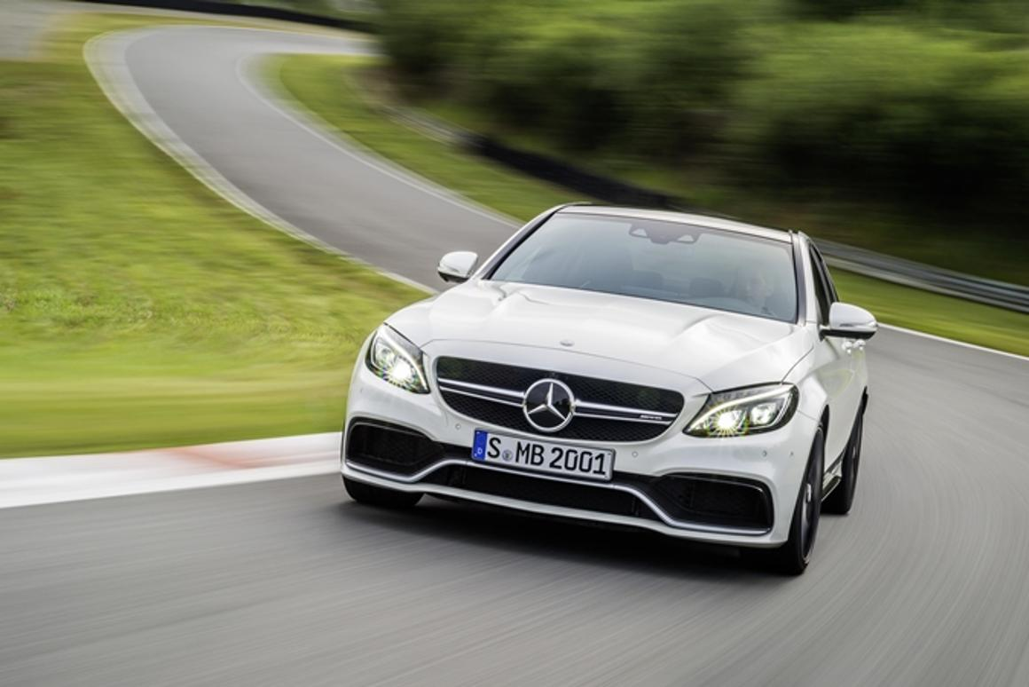 Mercedes has released new Saloon (shown here) and Estate models of its AMG C 63