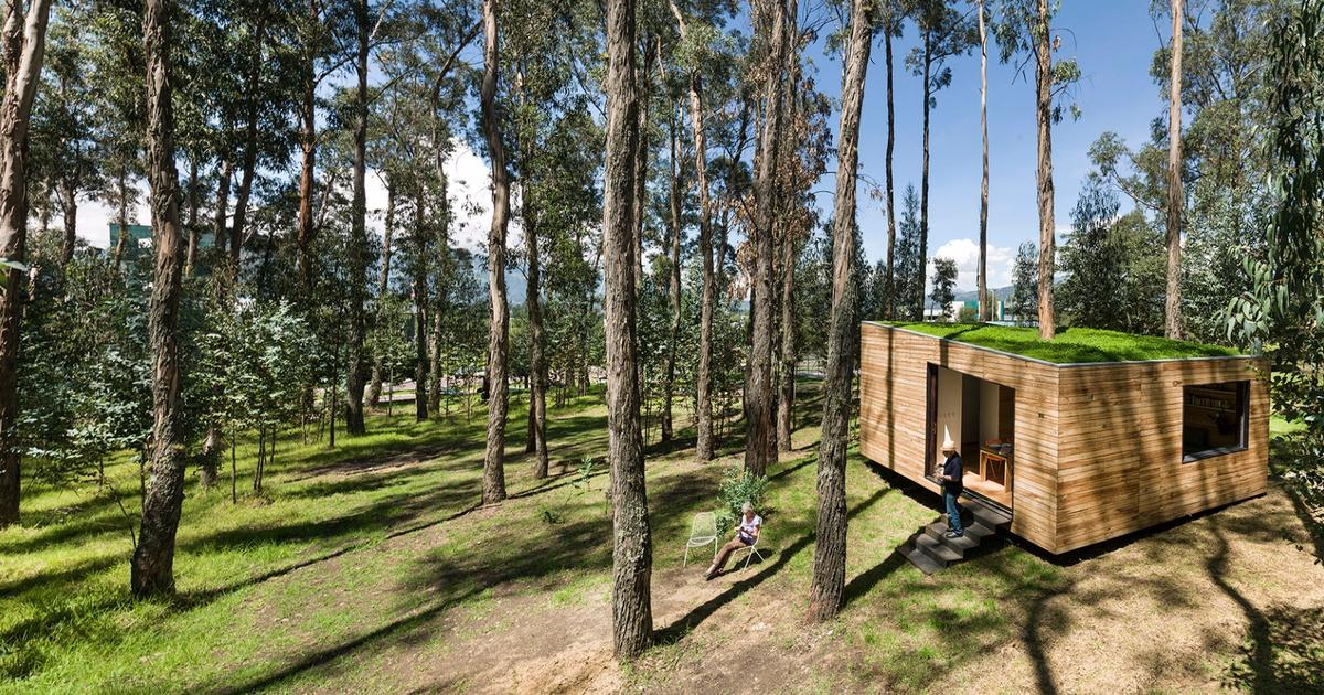 Tiny green-roofed home can be packed up and moved on with minimal ecological footprint