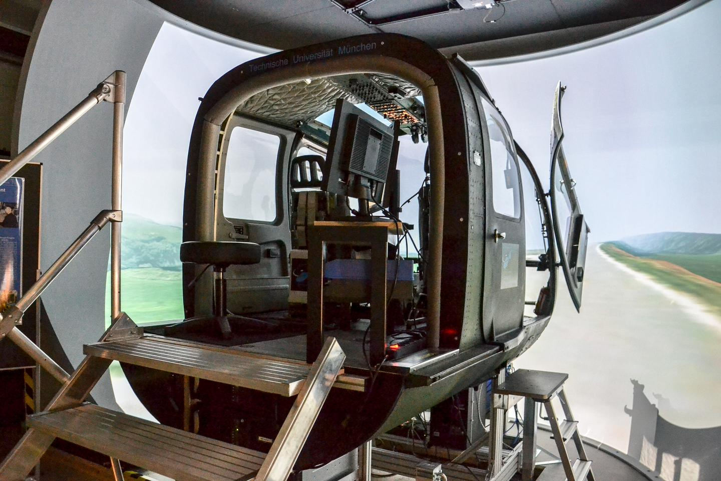 The research simulator at TUM's Institute of Helicopter Technology
