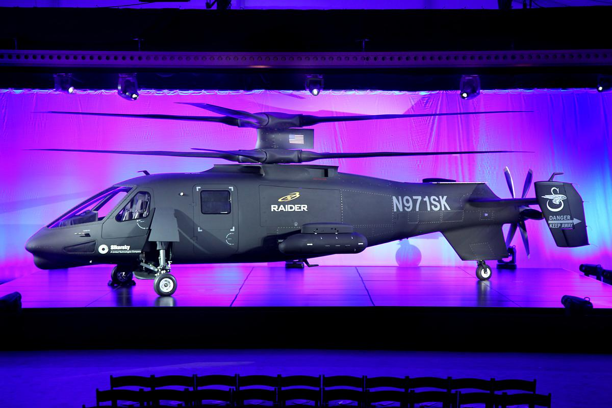 The Sikorsky S-97 Raider that is intended to replace the US Army's OH-58D Kiowa Warrior helicopter