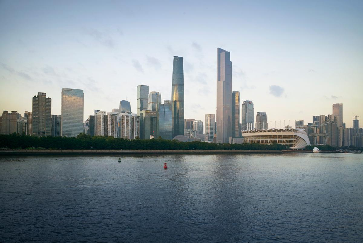 The recently-completedGuangzhou CTF Finance Centre (pictured on the right)is actually one of a pair of towers referred to as the Guangzhou Twin Towers