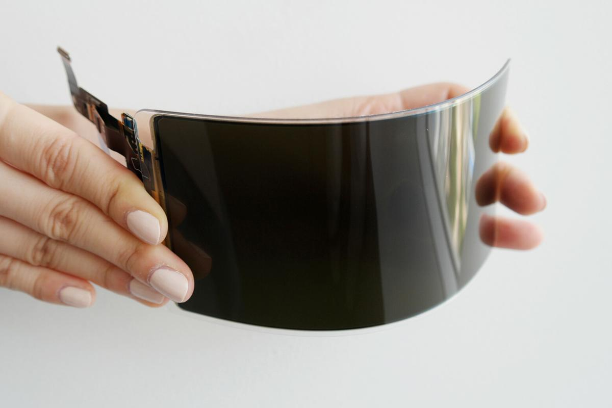 Samsung's new OLEDpanel ditches glass for a flexible plastic cover