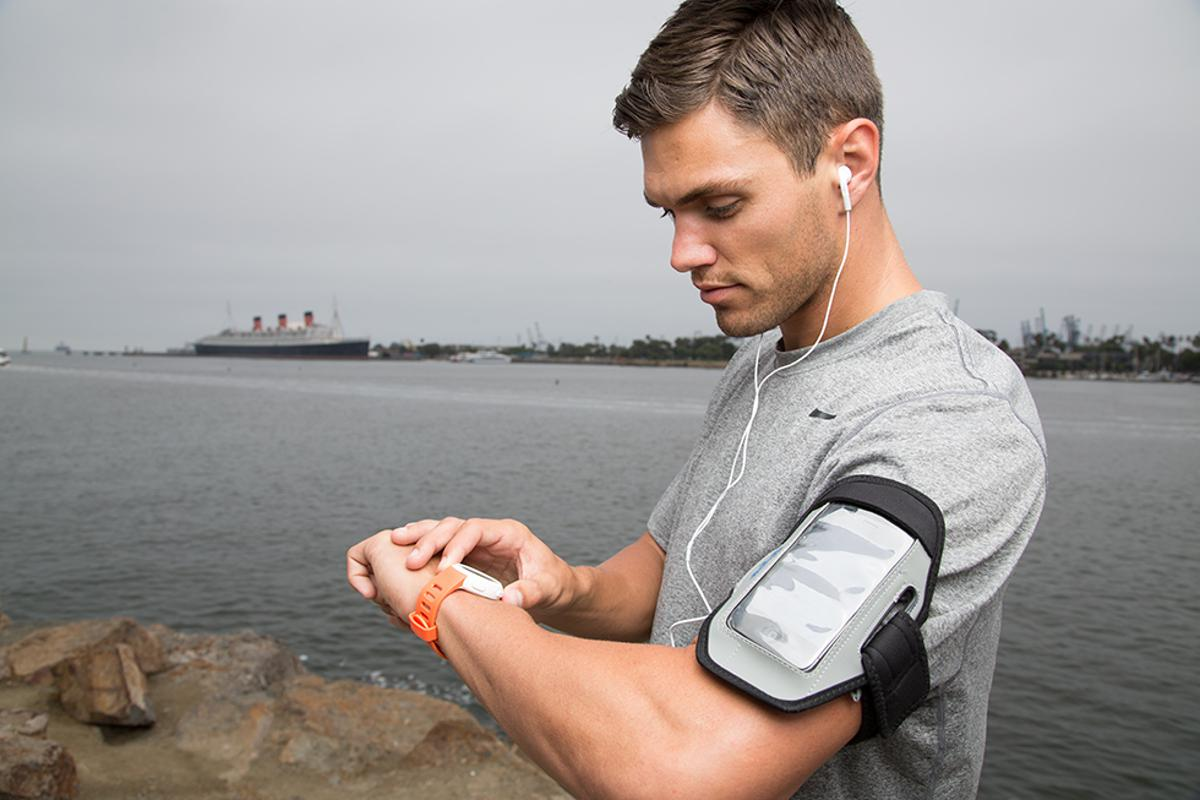Users can monitor performance statistics such as distance traveled, heart rate and pace