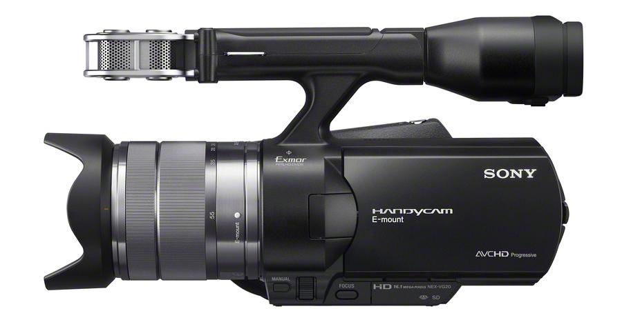 The Sony NEX-VG20 interchangeable lens camcorder