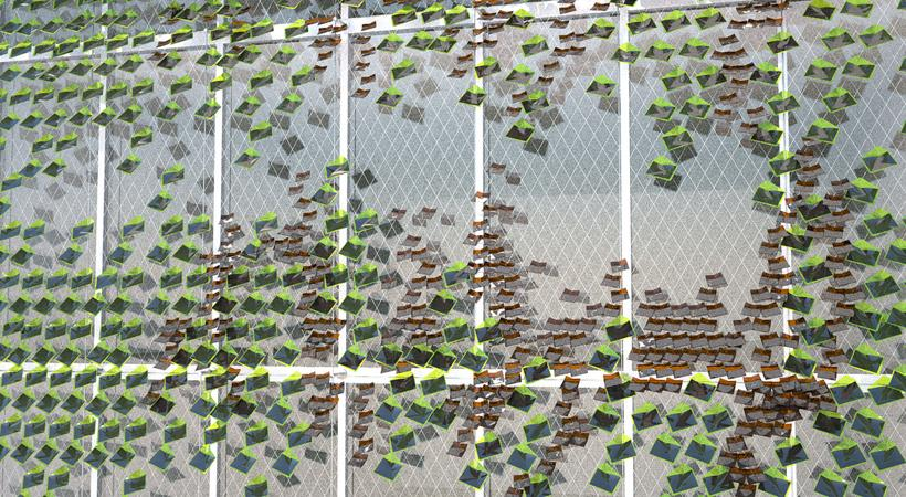 Solar Ivy is a solar energy delivery device that draws inspiration from ivy growing on a building (Image by Solar Ivy/SMIT)