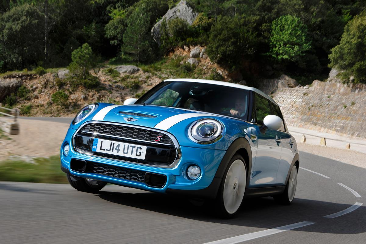 The new Mini 5-door has two proper rear doors, thanks to an extension of the wheelbase