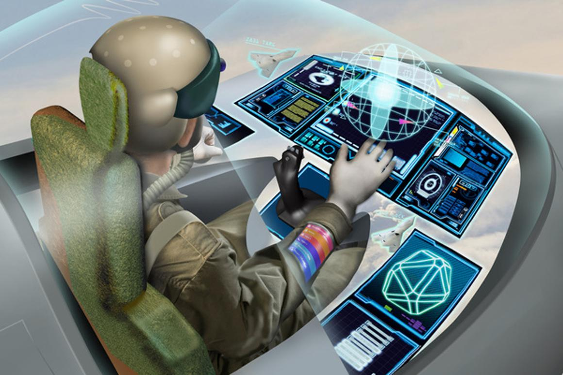 Experts at BAE Systems are developing technologies to enable pilots to control the fighter jet of the future with the blink of an eye
