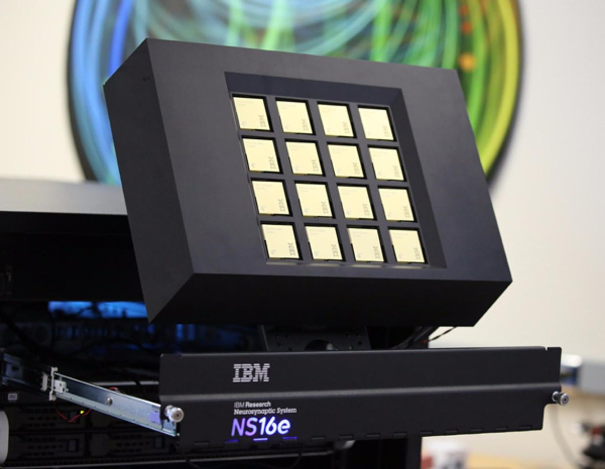 The 16-chip IBM TrueNorth platform Lawrence Livermore will receive later this week