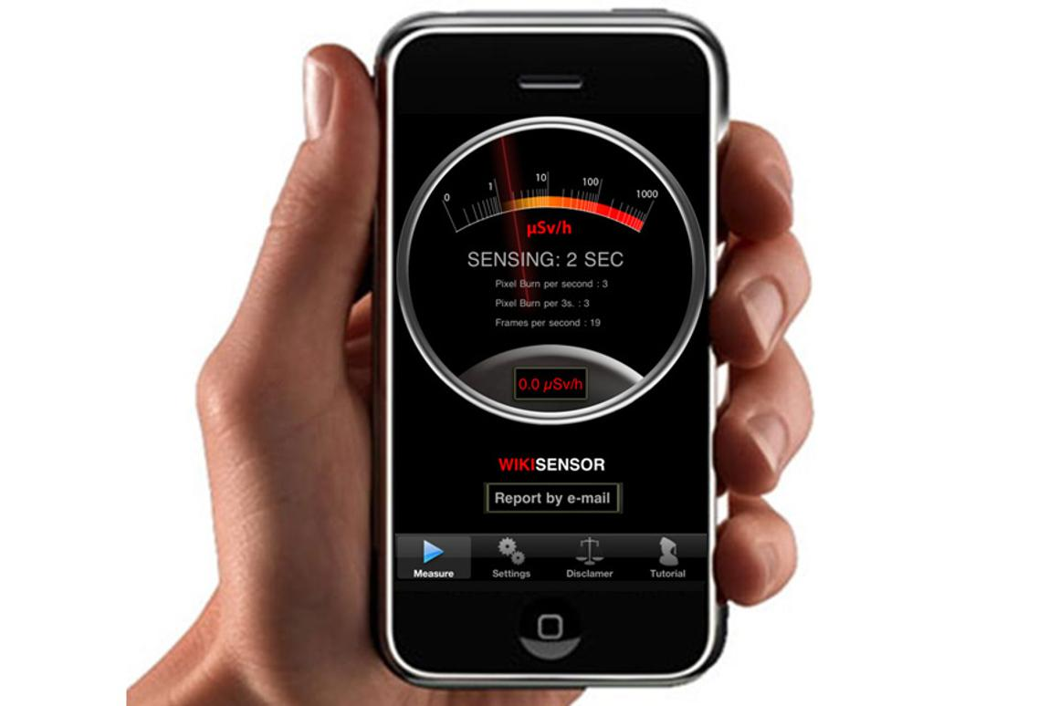 The WikiSense app and some black tape turns an iPhone 4 into a radiation detector