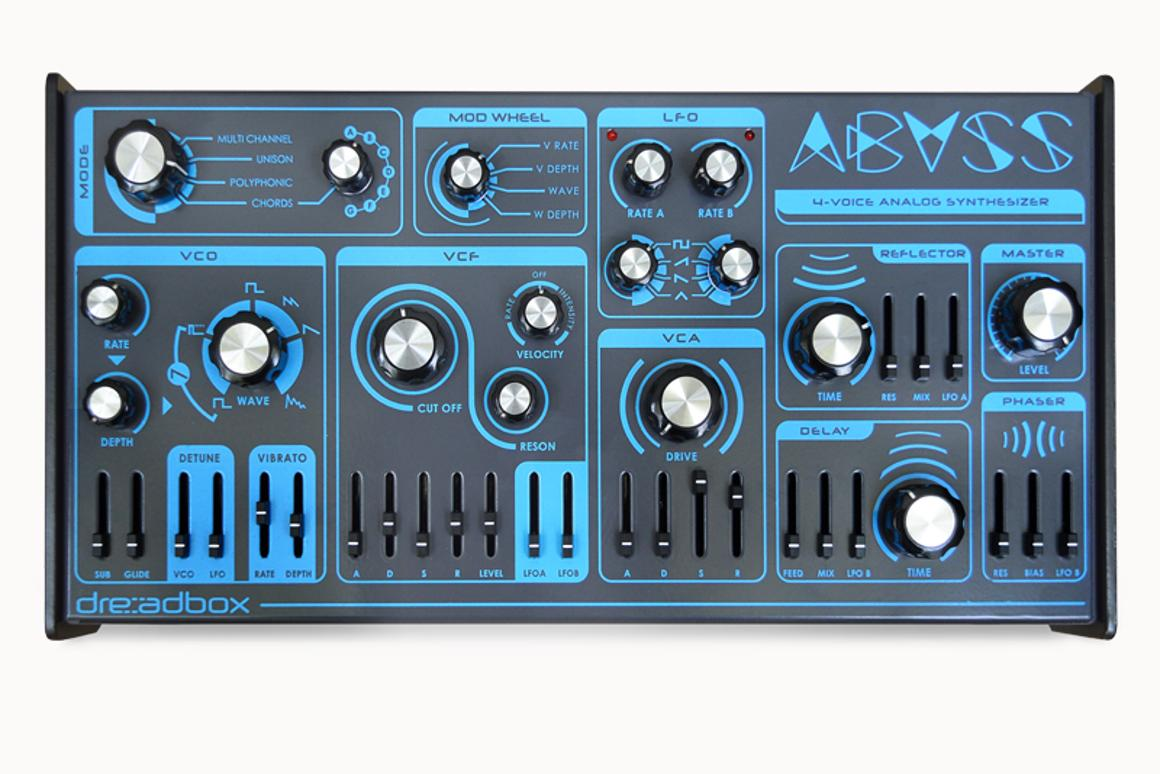 The Abyss analog polyphonic synthesizer from Dreadbox