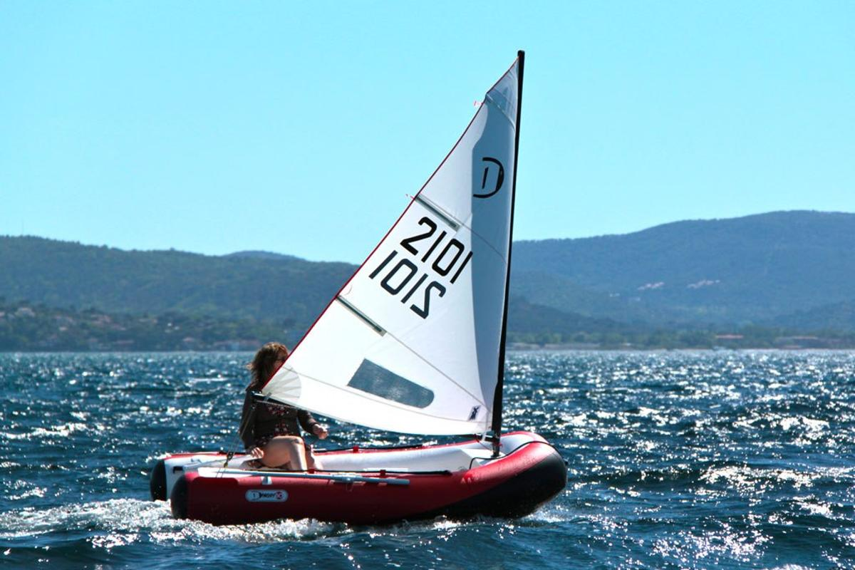 Aquacrafts claims the DinghyGo's sail can be manned singlehandedly with ease