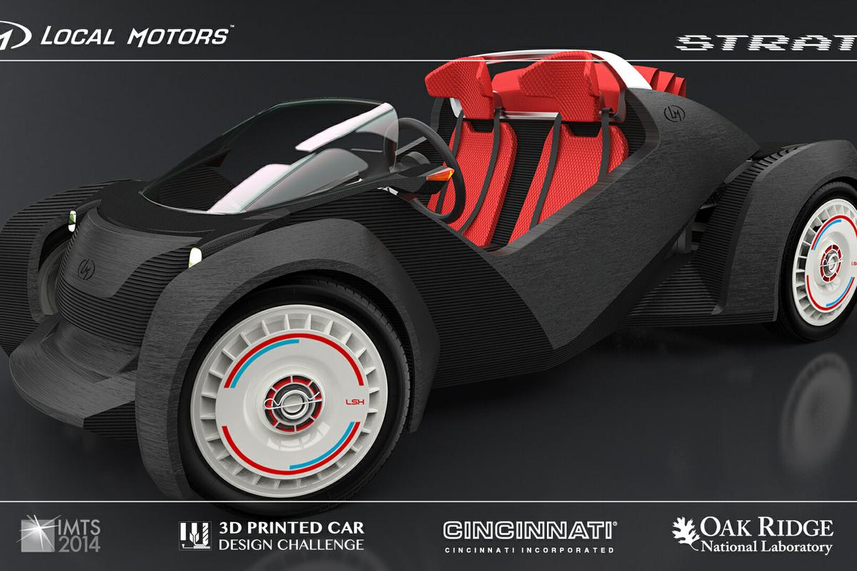 """Strati"" - The winner of the Local Motors 3D challenge (Image: Local Motors)"