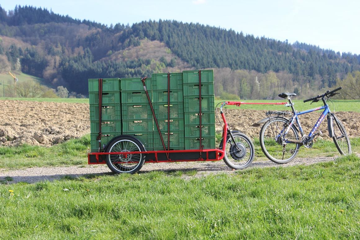 Carla Cargo trailer gives your bike (or body) serious