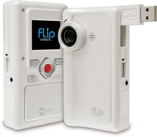 The Flip digital camcorder by Pure Digital - note the pop-out USB connector.