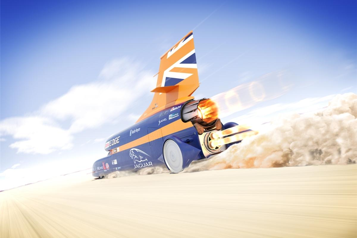 The Bloodhound Project is targeting a speed of 1,000 mph (1,609 km/h)