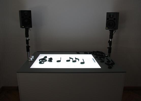 The Noteput interactive music table