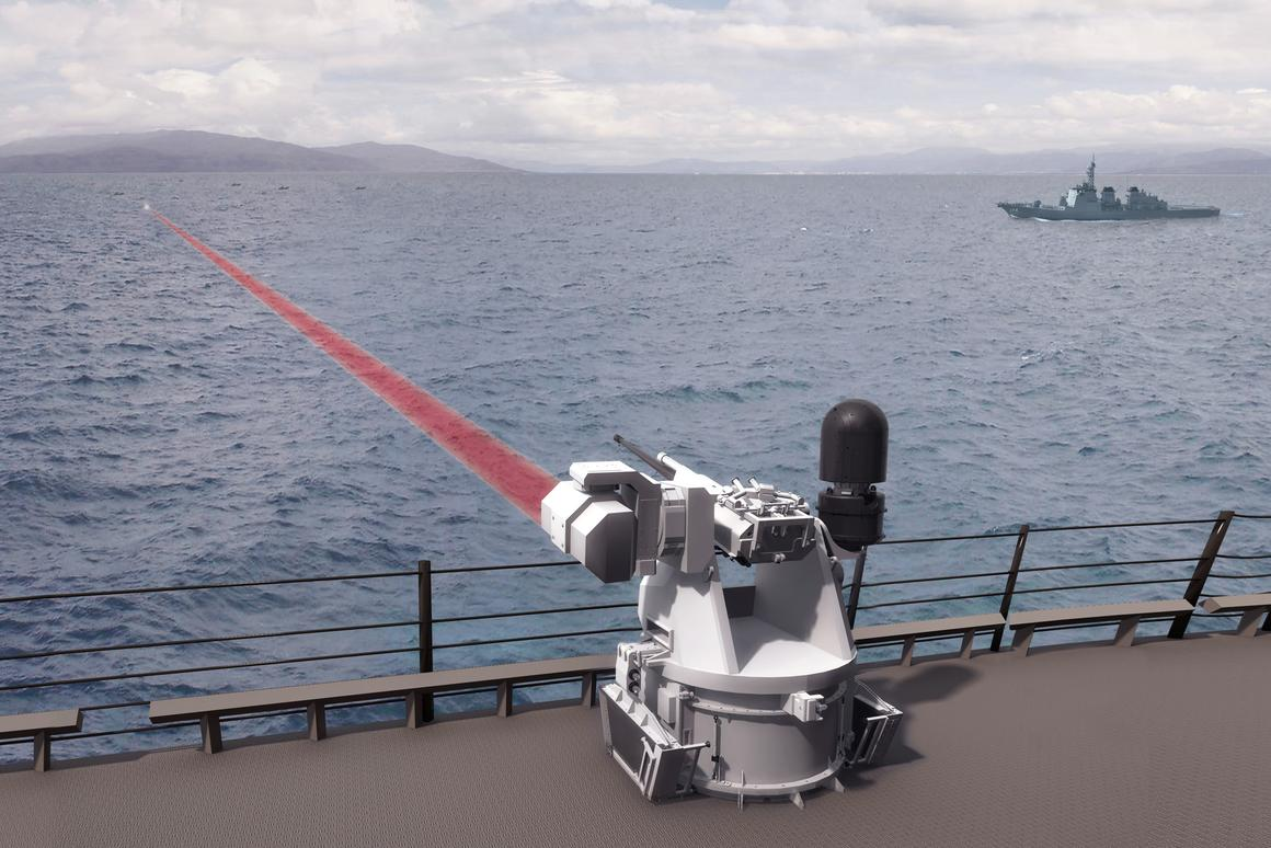 Boeing and BAE Systems have teamed up to develop the Mk 38 Mod 2 Tactical Laser System for the U.S. Navy (Image: BAE Systems)