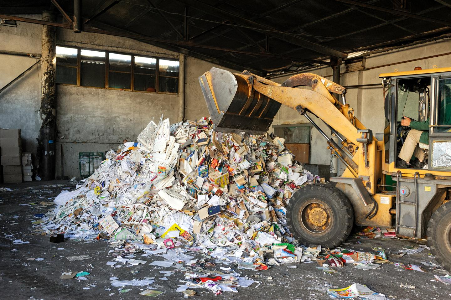 Unlike expanded polystyrene products, the new material is made from existing paper waste instead of petroleum byproducts