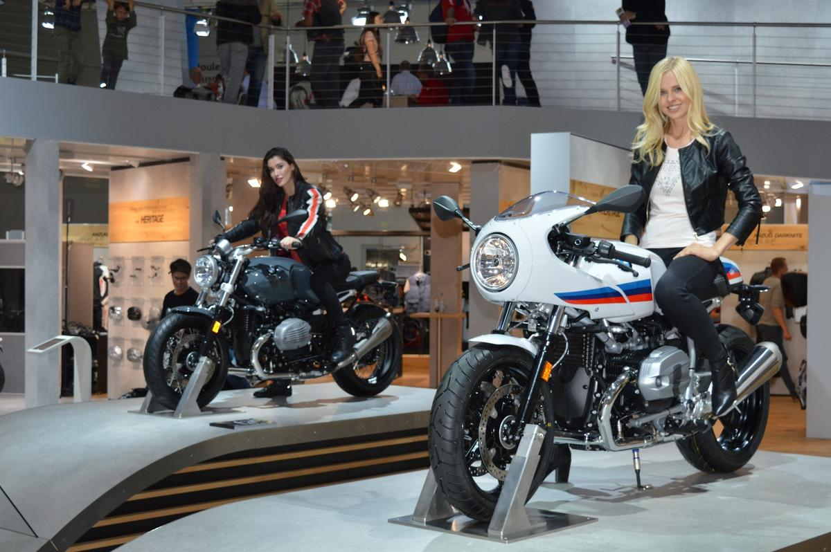 The two new R nineT variants, Racer (foreground)and Pure (background), took center stage at BMW's Intermot booth