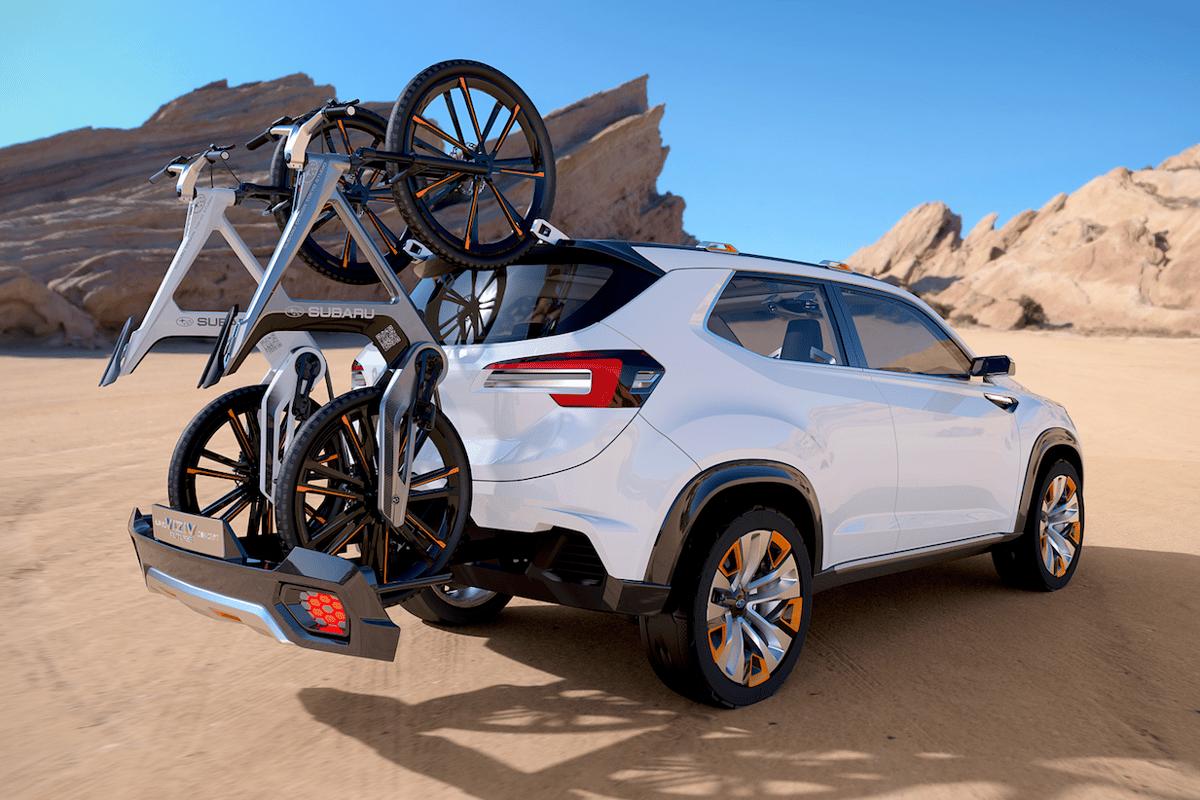 Subaru shows an integrated bike carrier