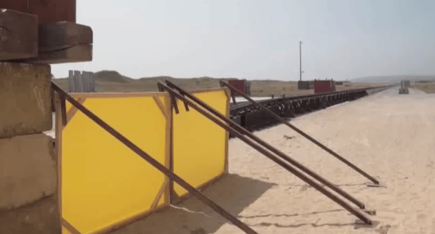 The rocket sled used to test the penetrator (Image: Astrium)