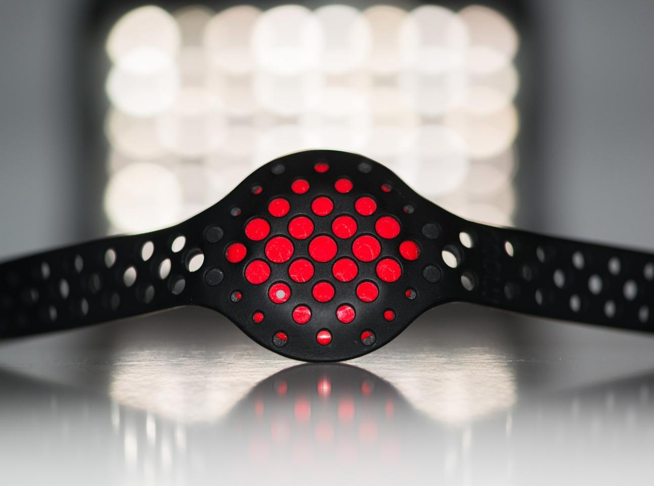 The Moov Now sports coach and activity tracker is small and comfortable to wear