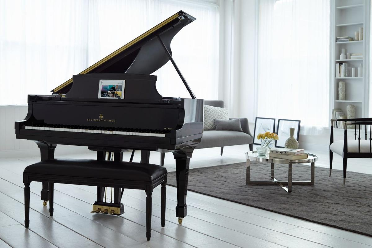 The Spirio | r from Steinway & Sons is available as a Concert Grand Model D or a shorter Model B Grand