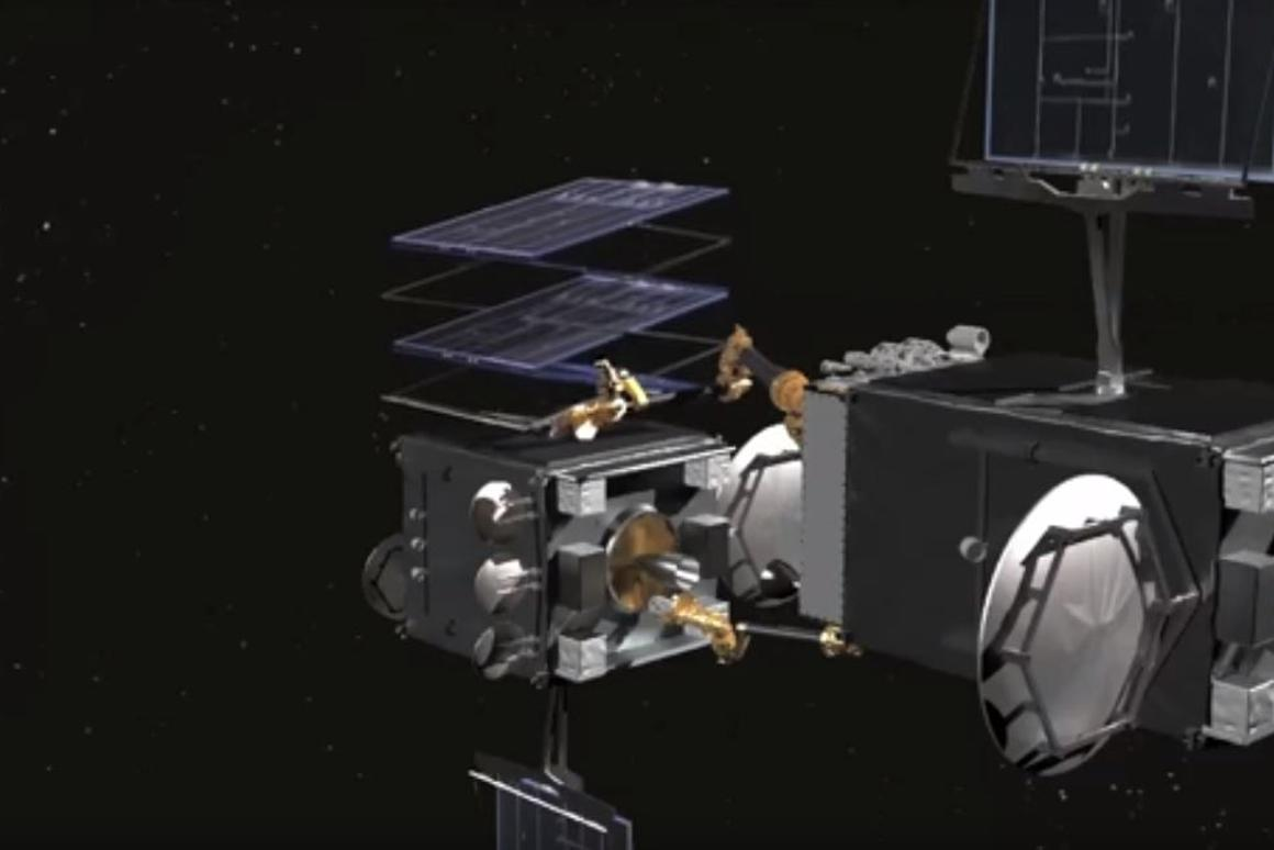 The DARPA RSV docked with a faulty satellite