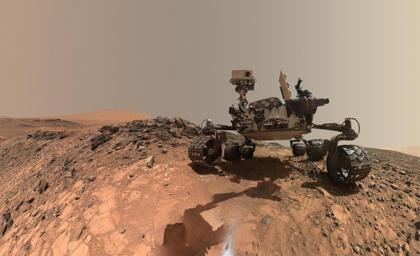 A self-portrait of the Curiosity rover, which has found signs of organic molecules on Mars