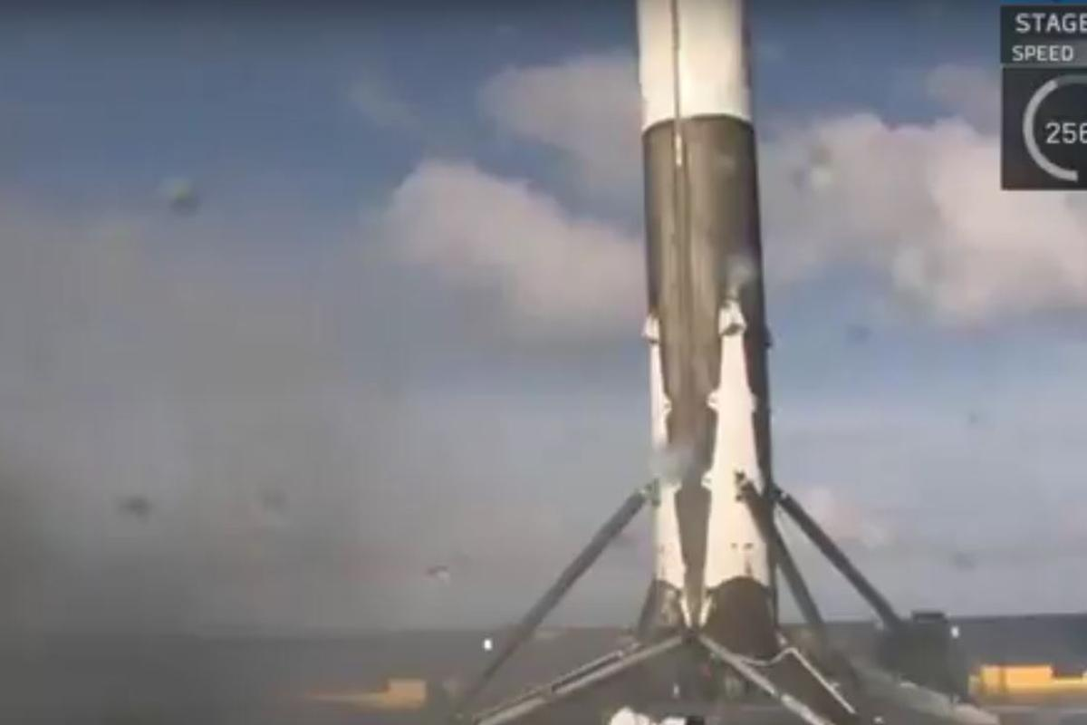 The was the third successful sea landing of the Falcon 9
