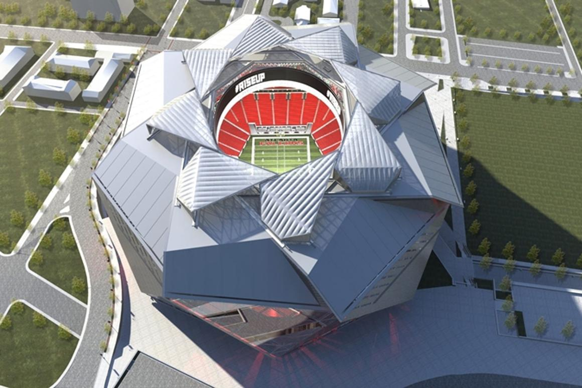 The New Atlanta Stadium will have a roof that opens and closes in a similar way to a camera shutter