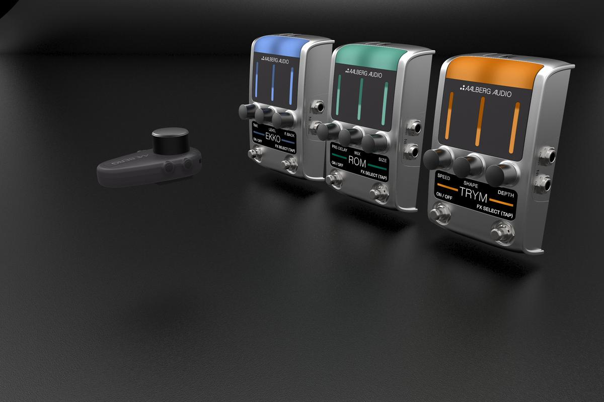 Aalberg Audio has revealed that its Ekko and Aero system will be joined by the Rom and Trym effects pedals