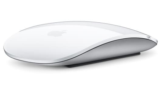 Apple's new wireless Magic Mouse features a multi-touch surface sitting atop an aluminum base