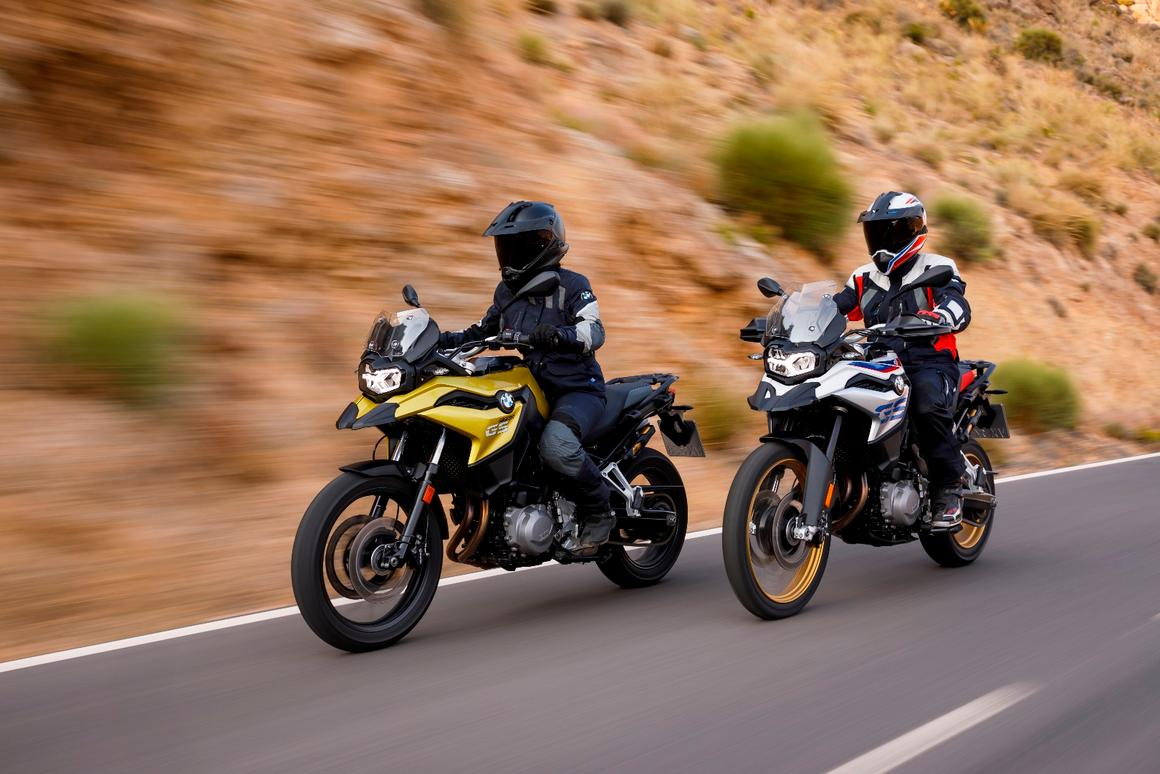BMW's latest iteration of its middleweight adventure bike, the F 750GS (left) and the F 850GS (right)