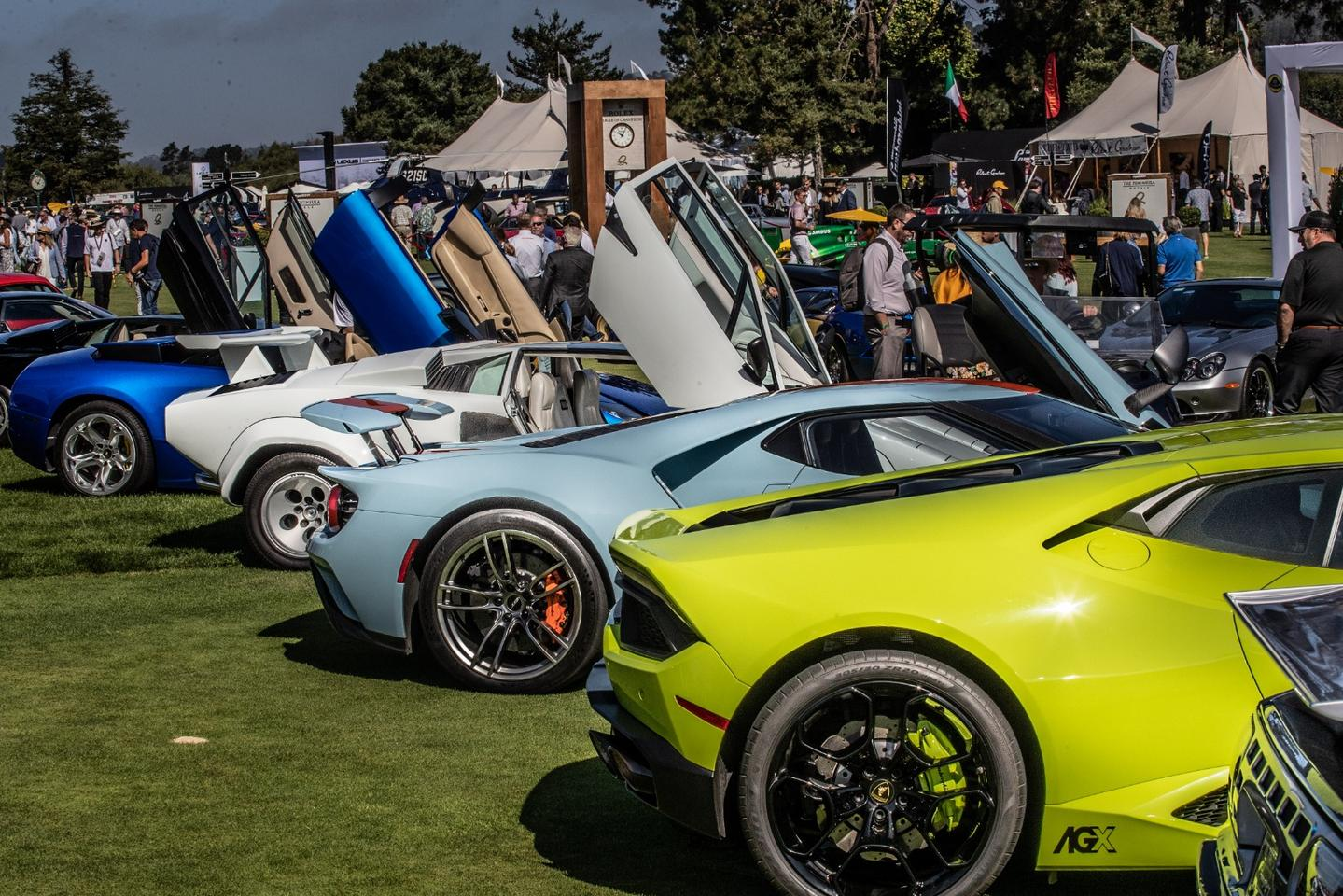 Supercars line up at The Quail
