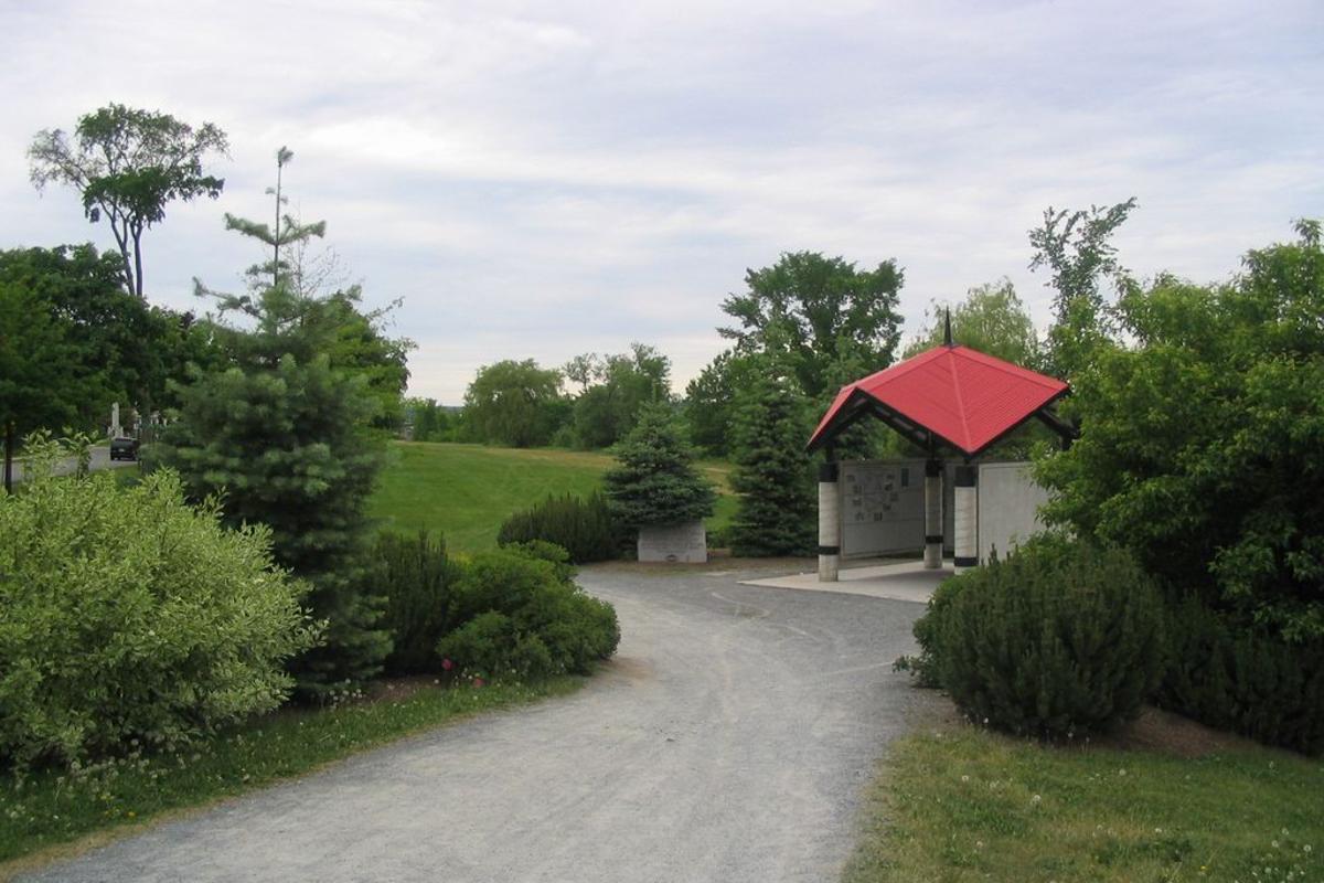 Trans Canada Trail pavilion in Fredericton, New Brunswick, Canada