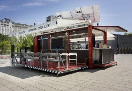 The Muvbox utilises the available space to provide bistro seating for 14
