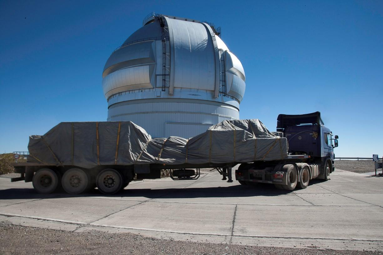 The GPI was first put to use last November when it was deployed at the 8-meter Gemini South telescope in Chile (Photo: Gemini Observatory)