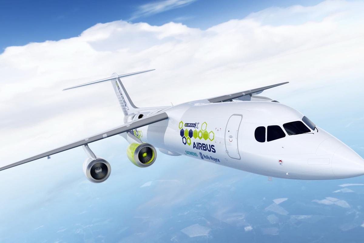 E-Fan X is a hybrid-electric flight demonstrator aircraft being developed by Airbus, Rolls-Royce and Siemens