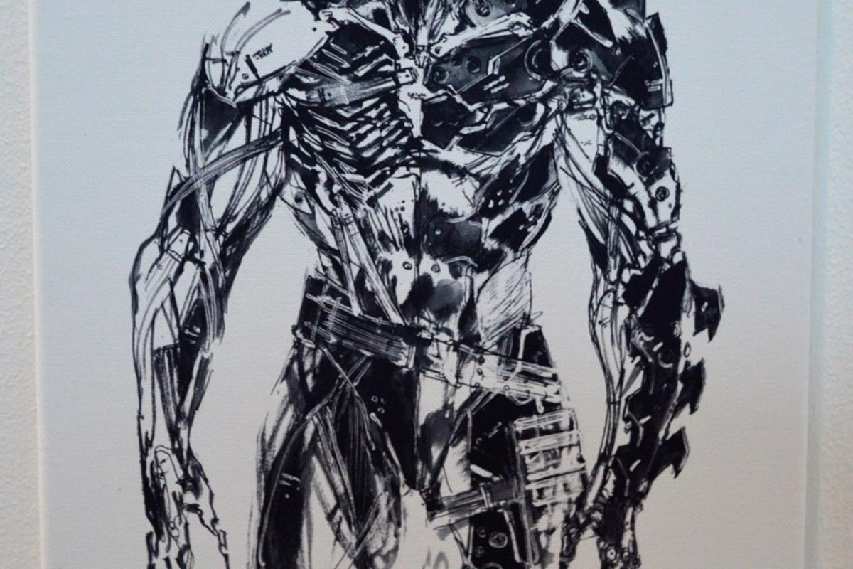 Raiden, a sketch by Konami's Yoji Shinkawa from Metal Gear Rising: Revengeance, is among the work being auctioned for charity