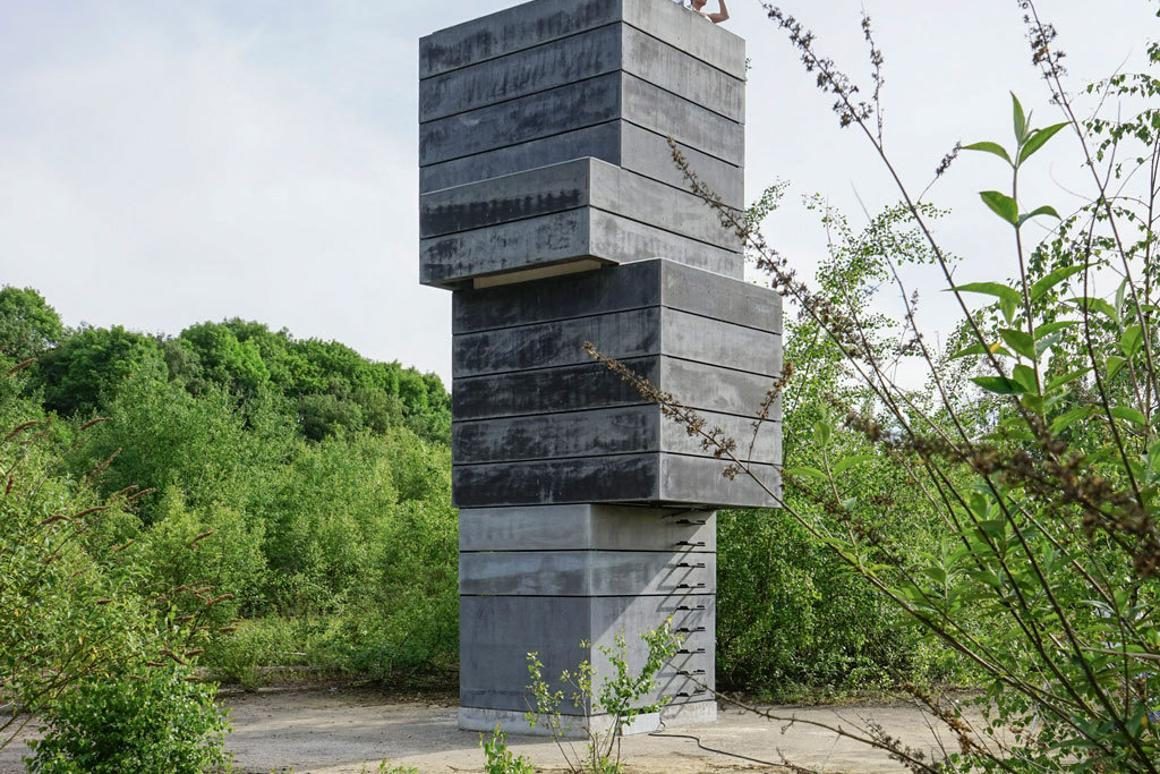 The One Man Sauna is based on the grounds of an abandoned factory in Bochum, Germany (Photo: Modulorbeat)
