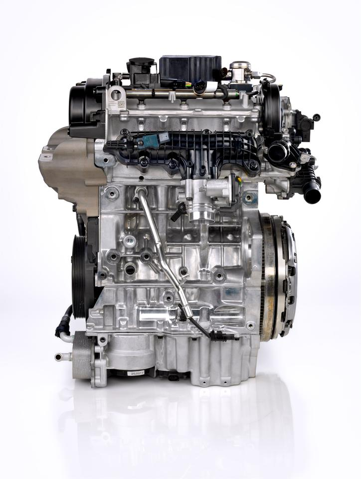 Volvo's new three-cylinder motor produces up to 180 hp