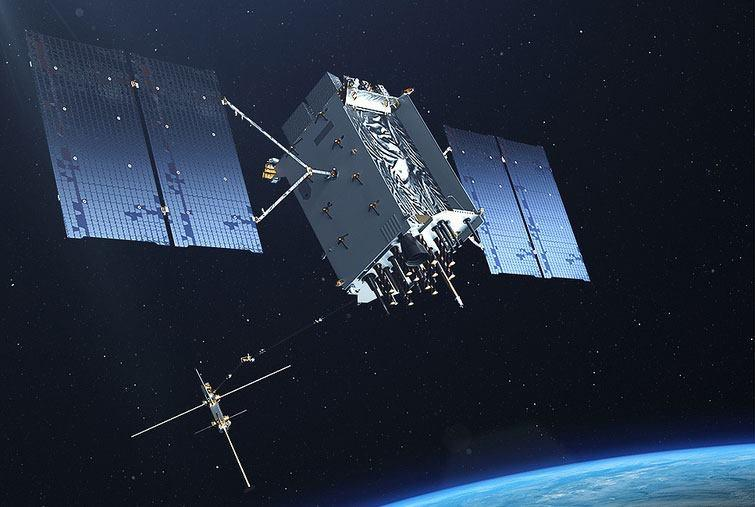 Artist's concept of a GPS satellite