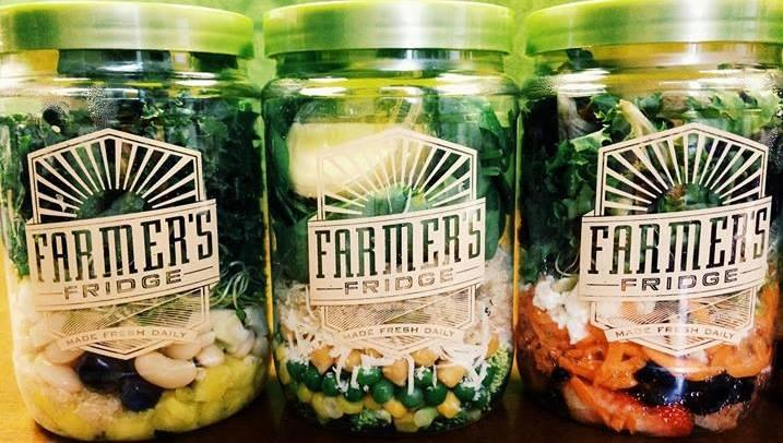 Meals are served in jars