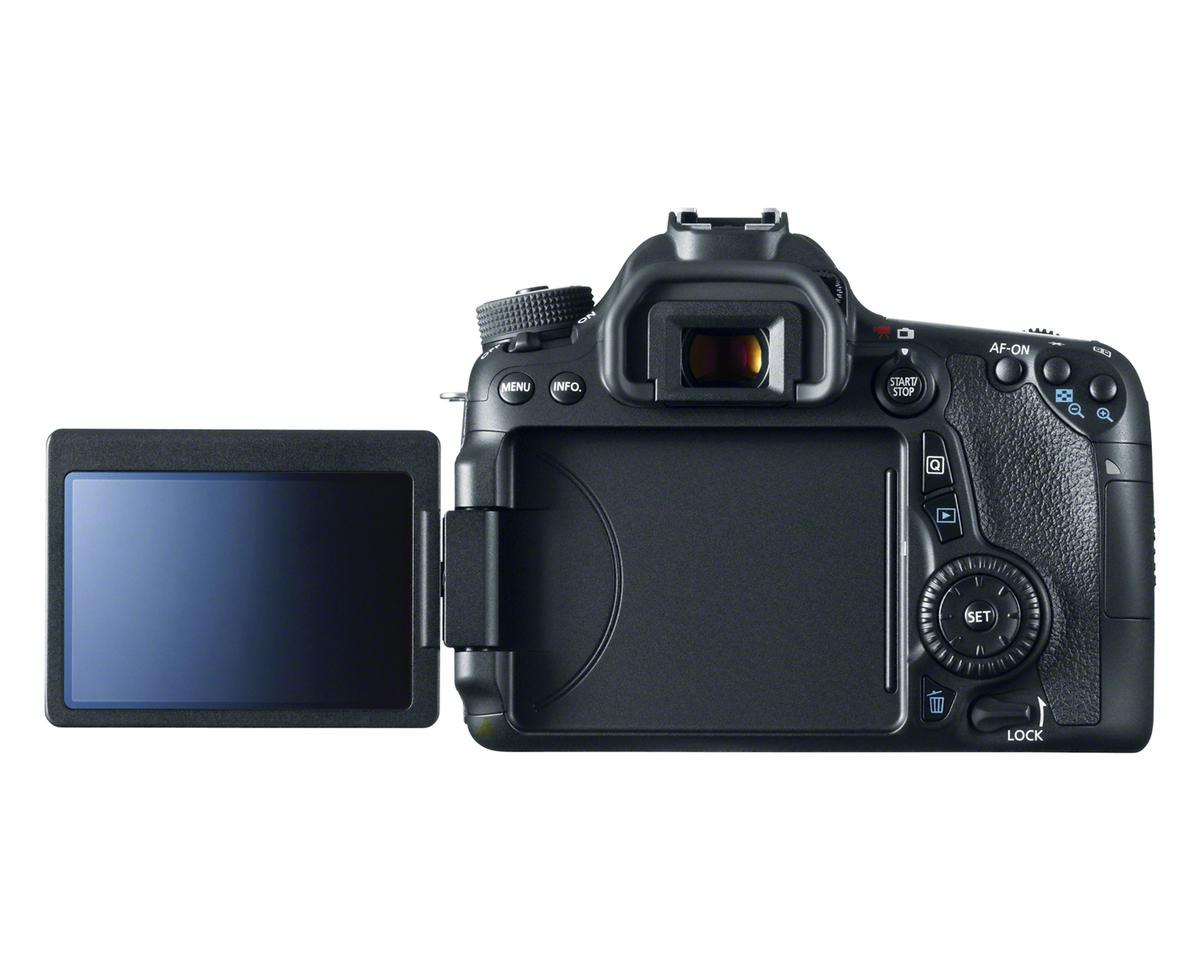 The Canon EOS 70D features a 3-inch vari-angle touchscreen LCD with 1,040K dots