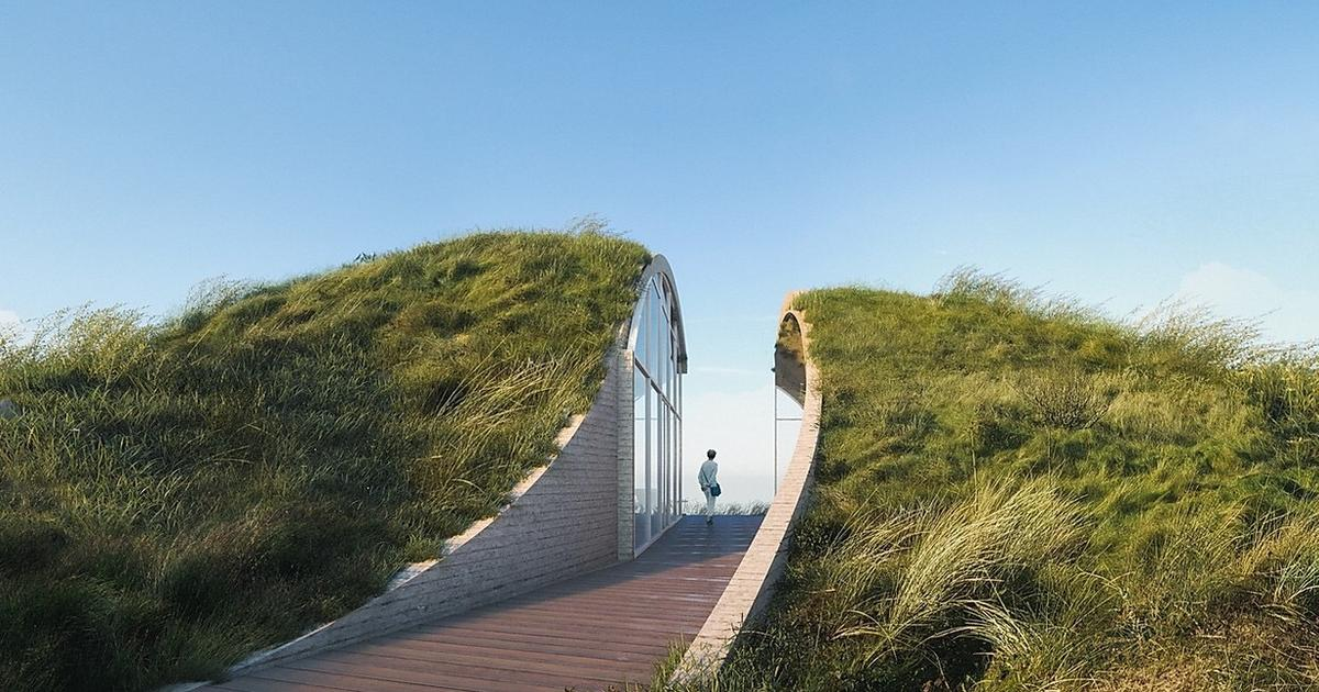Squid-inspired Dune House taps solar and wind for energy needs