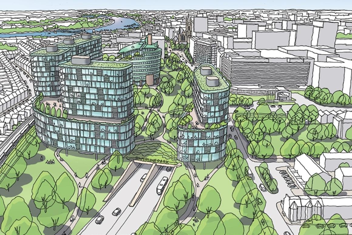 Proposals have been unveiled that would see roads in London covered to make room for development and green space above ground